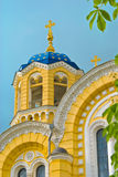 Fragment of the St Vladimir cathedral  in Kyiv. Ukraine,  on background blue sky Royalty Free Stock Photos