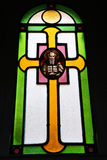 Fragment of stained glass Royalty Free Stock Images