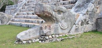 Fragment of the stairways of El Castillo Stock Image
