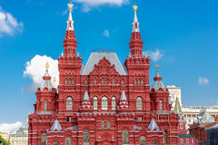 Fragment of State Historical museum on Red Square Stock Images