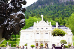 Fragment of statue in the Linderhof Palace Royalty Free Stock Image