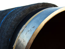 A fragment of a steel pipe Royalty Free Stock Image
