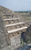 A fragment of the step pyramid in Teotihuacan Stock Photo
