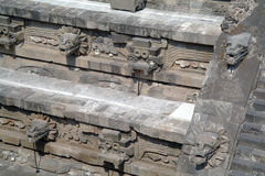 A fragment of the step pyramid in Teotihuacan Royalty Free Stock Image
