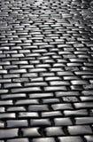 Fragment of stone blocks pavement Stock Photo