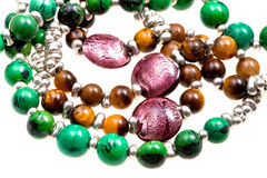 Fragment stone lady's bead closeup Royalty Free Stock Image