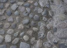 Fragment of stone pavement Royalty Free Stock Image