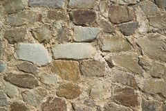 A fragment of a stone retaining wall Stock Images