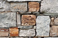 Fragment stone wall Royalty Free Stock Images