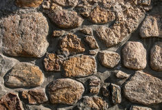 Fragment of a stone wall Stock Photo