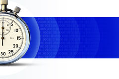 A fragment of a stopwatch Royalty Free Stock Images