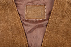 Fragment of suede vest Stock Photos