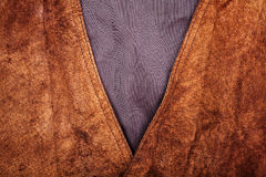 Fragment of suede vest Royalty Free Stock Image