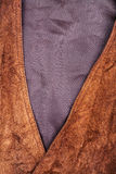 Fragment of suede vest Stock Image