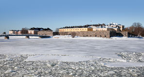 Fragment of Suomenlinna fortress Royalty Free Stock Photos