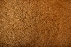 Fragment of the surface of fibrous synthetic non-woven material. Of brown color. Background, texture Royalty Free Stock Photo