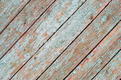 Fragment of the surface of the old wooden planks on a diagonal f Royalty Free Stock Images