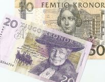 Fragment Swedish money Royalty Free Stock Photos
