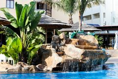 A fragment of the pool in the hotel royalty free stock photos