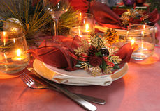 Fragment table setting for Christmas Stock Images