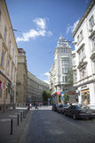 Fragment of Tadeusz Kosciuszko street in Lviv Royalty Free Stock Image
