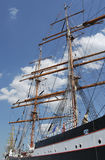 Fragment of Tall Ship Stock Photo
