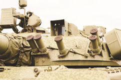 Fragment of tank barrel. Royalty Free Stock Photos