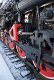 Fragment of a tank engine Stock Image