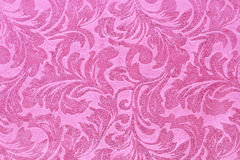 Fragment of tapestry pattern with pink floral Royalty Free Stock Images