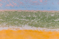 Fragment texture painted yellow blue green . Royalty Free Stock Image