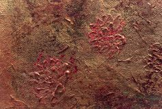 Fragment of textured oil painting as background stock images