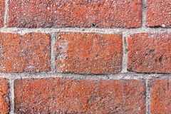 Fragment of a 19th century brick wall. Detailed texture of old bricks. Fragment of a 19th century brick wall. Vintage bricks. Old wall. Detailed texture of old royalty free stock images