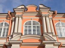 Fragment of Theodore church of Alexander Nevsky Lavra. Stock Photography