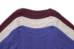 Fragment of three sweaters Royalty Free Stock Image
