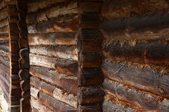 Fragment of a timbered wall. Royalty Free Stock Photography