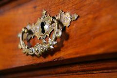 Fragment to old-time furniture Royalty Free Stock Image
