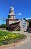 Fragment of the Tomsk wooden kremlin, Russia Stock Images
