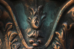 Fragment of top column. Baroque architecture Stock Photo