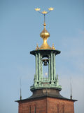 Fragment of tower hall in Stockholm Royalty Free Stock Photo
