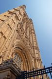 Fragment of Tower of Palace of Westminster in London UK Royalty Free Stock Photos