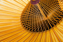 Fragment of a traditional Japanese umbrella Royalty Free Stock Images