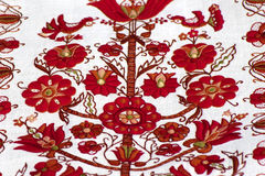 Fragment of traditional Ukrainian embroidery Royalty Free Stock Photography