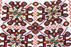 Fragment of traditional Ukrainian embroidery Stock Photo