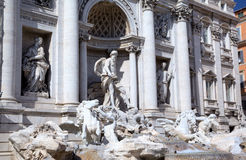 Fragment of The Trevi Fountain. Roma (Rome), Italy Royalty Free Stock Photos