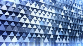 Fragment of triangles with particle light stock video footage