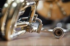 Fragment of the trombone Stock Photo