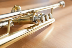 Fragment of a trumpet Stock Images