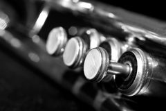 Fragment trumpet closeup Stock Photos
