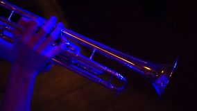 Fragment trumpet closeup stock video