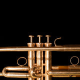 Fragment of trumpet Royalty Free Stock Image